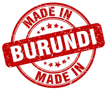 burundi: made in Burundi red grunge round stamp Illustration