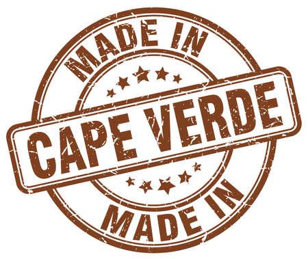 verde: made in Cape Verde brown grunge round stamp