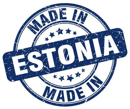 estonia: made in Estonia blue grunge round stamp