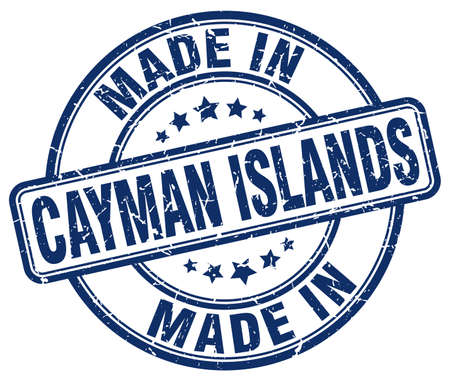 cayman islands: made in Cayman Islands blue grunge round stamp
