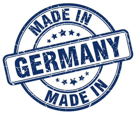 made in germany: made in Germany blue grunge round stamp Illustration