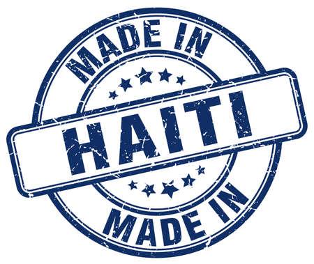 haiti: made in Haiti blue grunge round stamp
