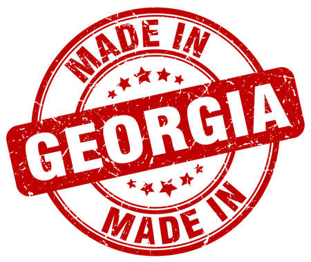georgia: made in Georgia red grunge round stamp