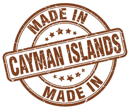 cayman: made in Cayman Islands brown grunge round stamp Illustration
