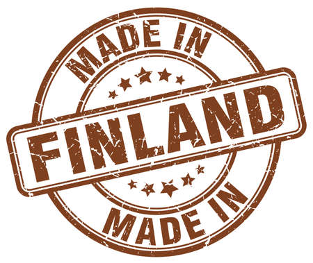 made in finland: made in Finland brown grunge round stamp