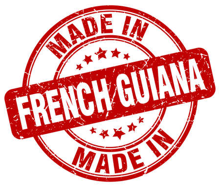 french guiana: made in French Guiana red grunge round stamp