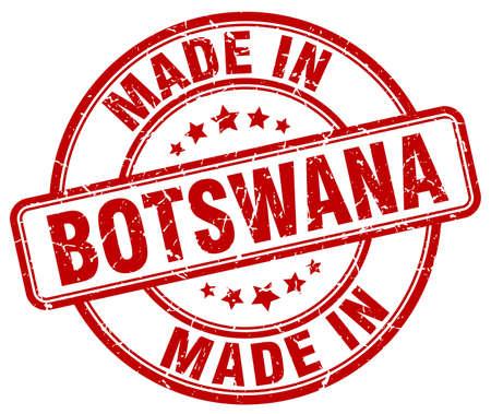 botswana: made in Botswana red grunge round stamp Illustration