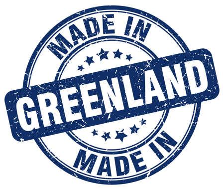 greenland: made in Greenland blue grunge round stamp