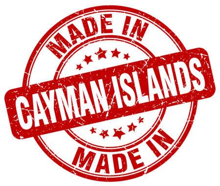 cayman islands: made in Cayman Islands red grunge round stamp