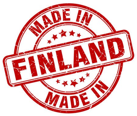 made in finland: made in Finland red grunge round stamp