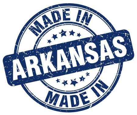arkansas: made in Arkansas blue grunge round stamp