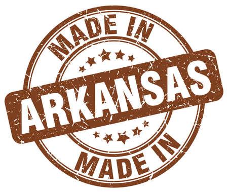 arkansas: made in Arkansas brown grunge round stamp