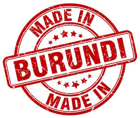 burundi: made in Burundi red grunge round stamp Illustration