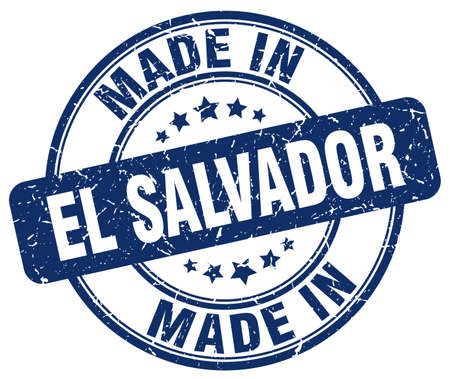 el salvador: made in El Salvador blue grunge round stamp