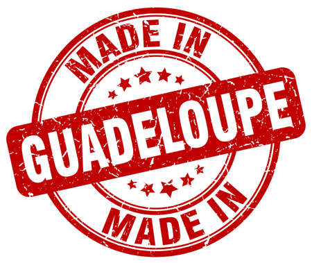 guadeloupe: made in Guadeloupe red grunge round stamp