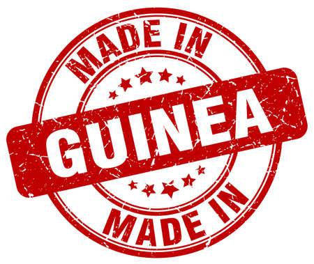guinea: made in Guinea red grunge round stamp