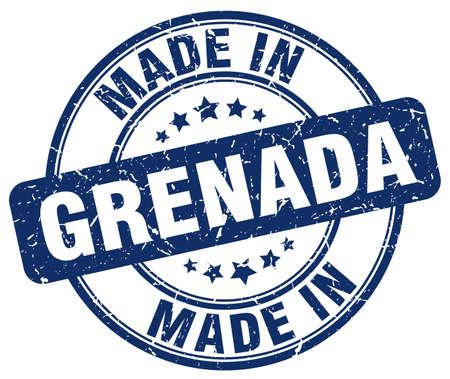 grenada: made in Grenada blue grunge round stamp