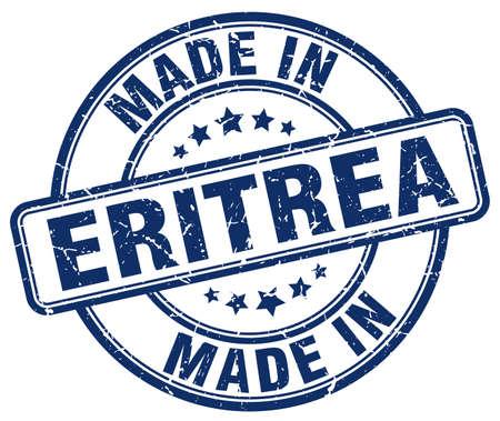 eritrea: made in Eritrea blue grunge round stamp
