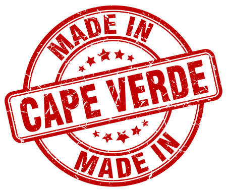 cape: made in Cape Verde red grunge round stamp