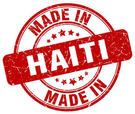 haiti: made in Haiti red grunge round stamp