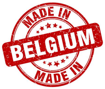 made in belgium: made in Belgium red grunge round stamp