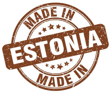 estonia: made in Estonia brown grunge round stamp Illustration