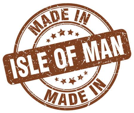 isles: made in Isle Of Man brown grunge round stamp