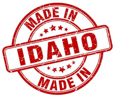 idaho: made in Idaho red grunge round stamp