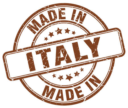 made in italy: made in Italy brown grunge round stamp Illustration