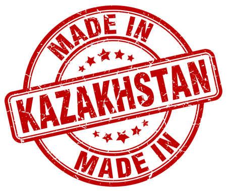 kazakhstan: made in Kazakhstan red grunge round stamp