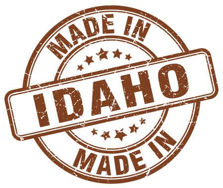 idaho: made in Idaho brown grunge round stamp