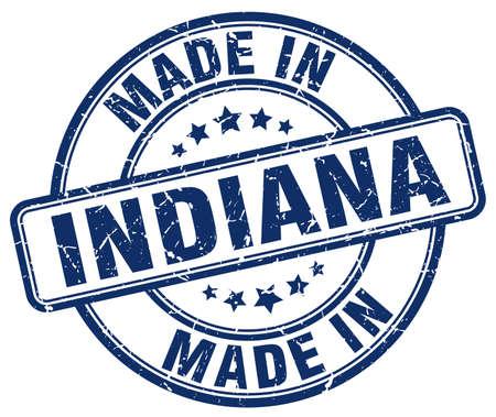 indiana: made in Indiana blue grunge round stamp