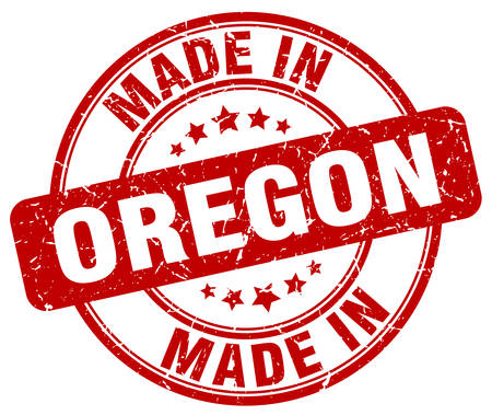 oregon: made in Oregon red grunge round stamp