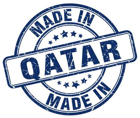 qatar: made in Qatar blue grunge round stamp