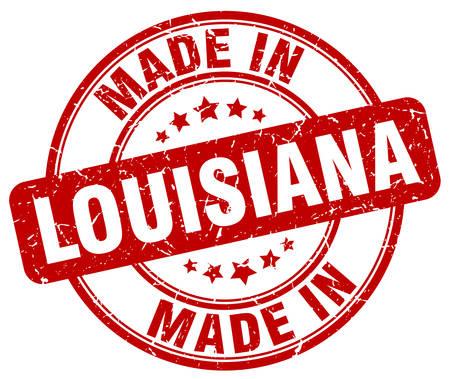 louisiana: made in Louisiana red grunge round stamp