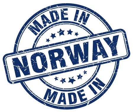 norway: made in Norway blue grunge round stamp