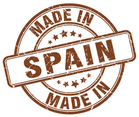 made in spain: made in Spain brown grunge round stamp
