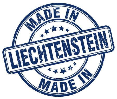 liechtenstein: made in Liechtenstein blue grunge round stamp Illustration