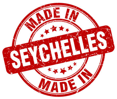 seychelles: made in Seychelles red grunge round stamp