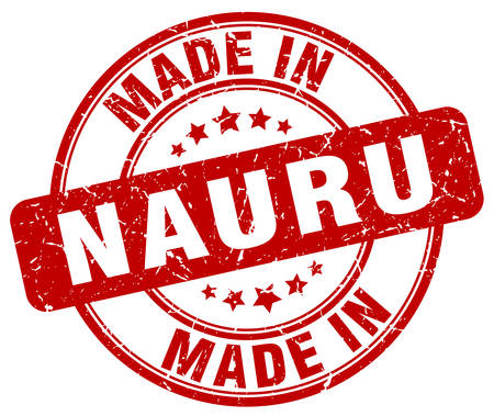 nauru: made in Nauru red grunge round stamp Illustration