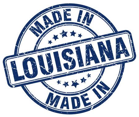 louisiana: made in Louisiana blue grunge round stamp