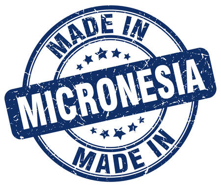 micronesia: made in Micronesia blue grunge round stamp