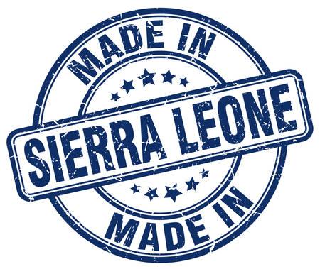 sierra leone: made in Sierra Leone blue grunge round stamp