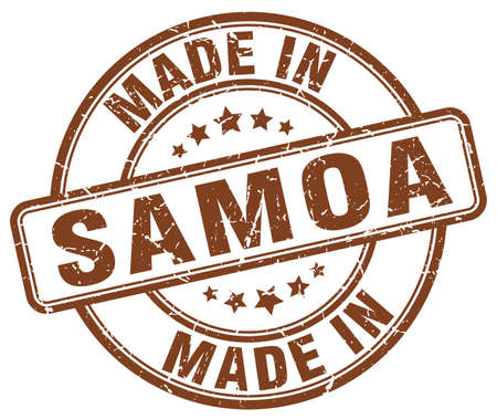 samoa: made in Samoa brown grunge round stamp