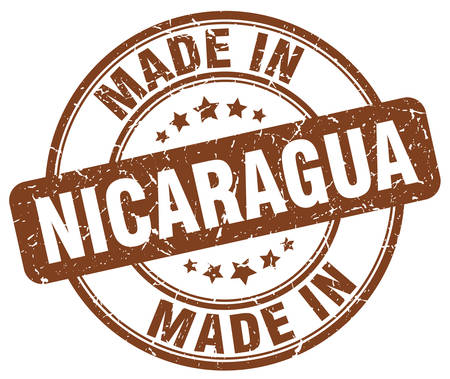 nicaragua: made in Nicaragua brown grunge round stamp
