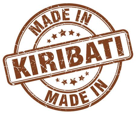 kiribati: made in Kiribati brown grunge round stamp Illustration