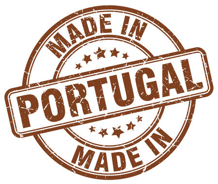 made in portugal: made in Portugal brown grunge round stamp