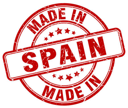 made in spain: made in Spain red grunge round stamp Illustration