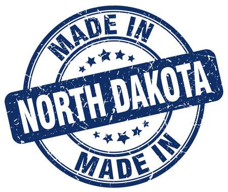 north dakota: made in North Dakota blue grunge round stamp Illustration