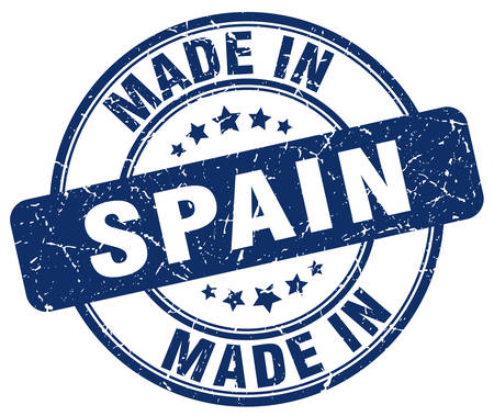 made in spain: made in Spain blue grunge round stamp